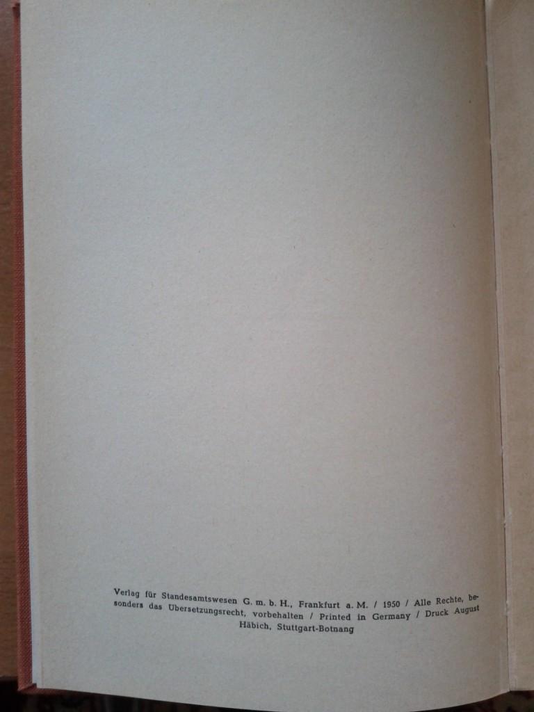 Hausbuch für die deutsche Familie von 1950 (Copyright)