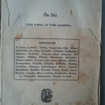Ev Kadının Yemek Kitabı (Contents)