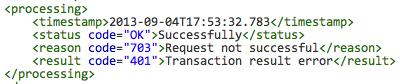 API Response Fail