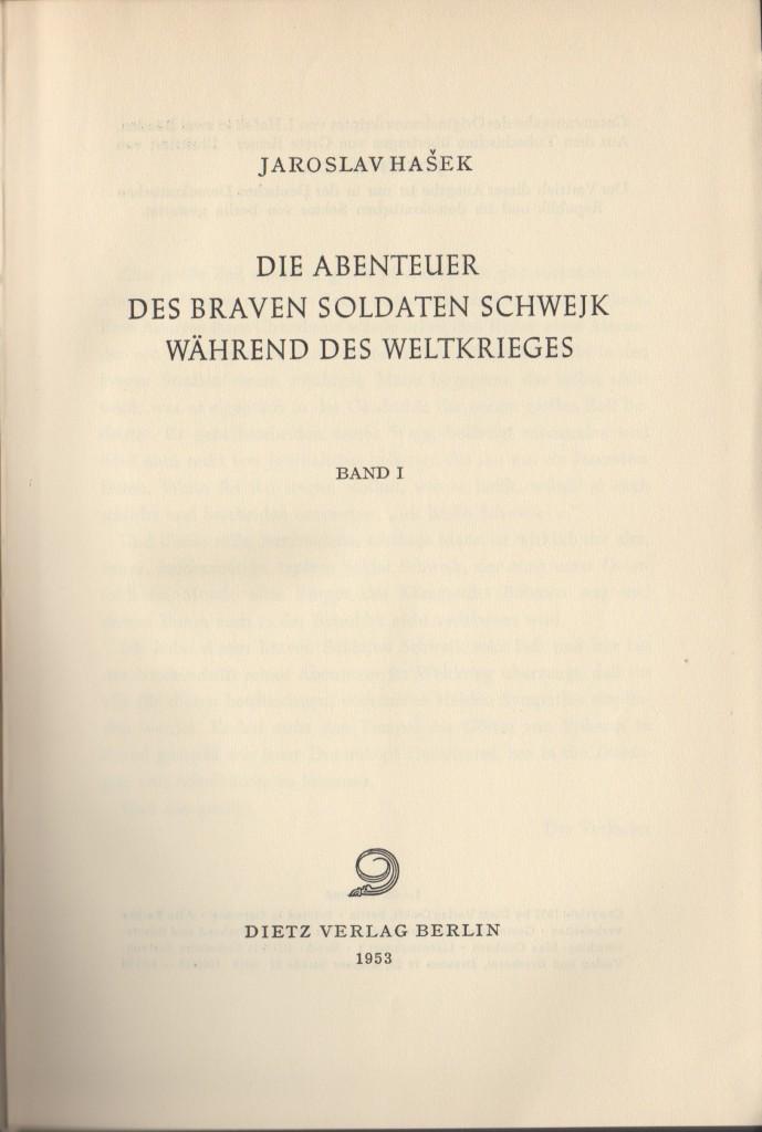 Die Abenteuer des braven Soldaten Schwejk (Titel)